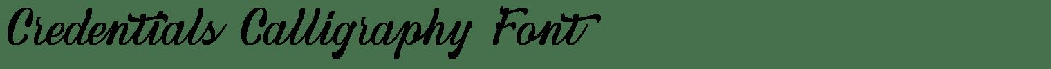 Credentials Calligraphy Font