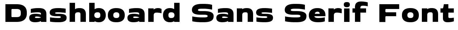 Dashboard Sans Serif Font