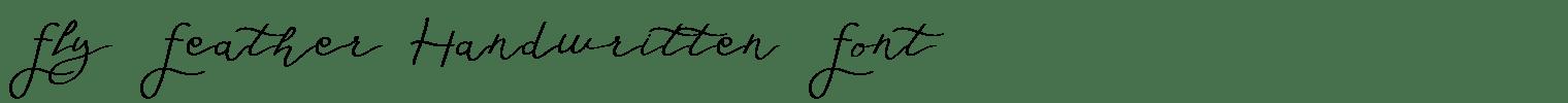 Fly Feather Handwritten Font