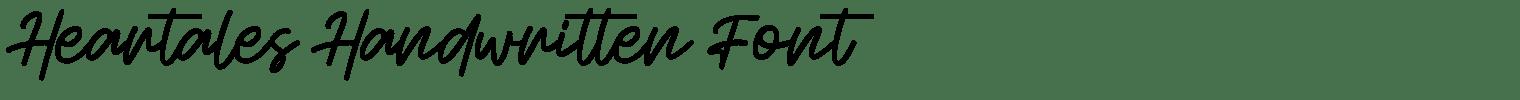 Heartales Handwritten Font