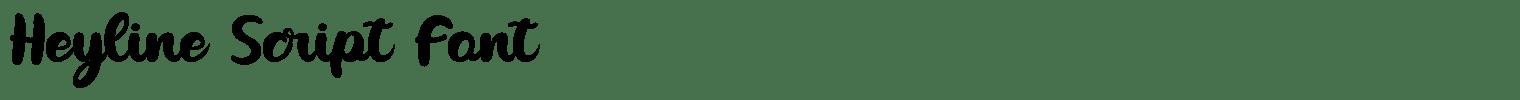 Heyline Script Font
