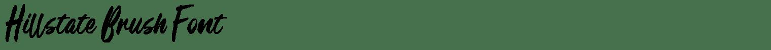 Hillstate Brush Font