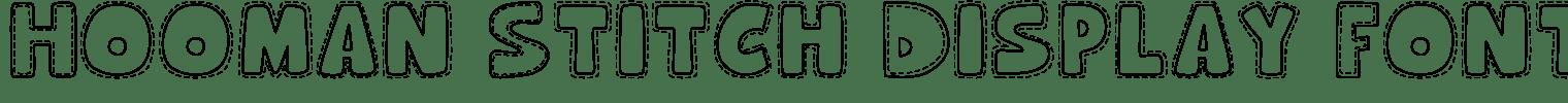 Hooman Stitch Display Font