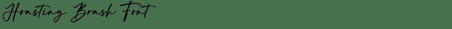 Houstiny Brush Font