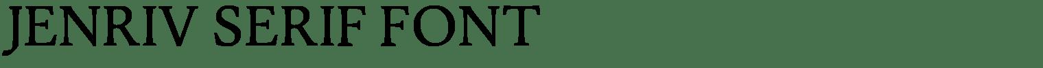 Jenriv Serif Font