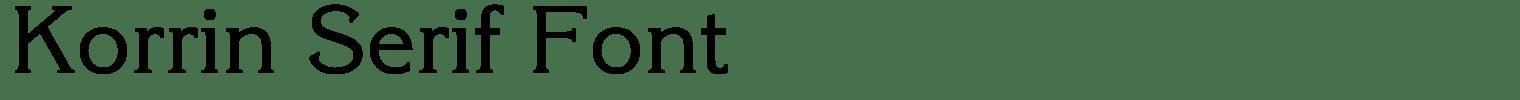 Korrin Serif Font