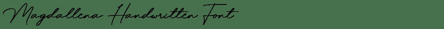 Magdallena Handwritten Font