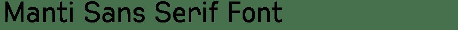 Manti Sans Serif Font