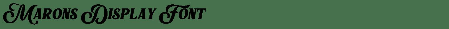 Marons Display Font