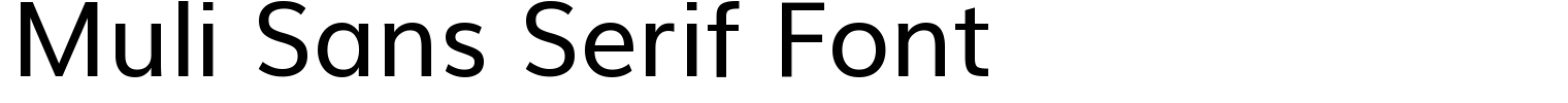Muli Sans Serif Font