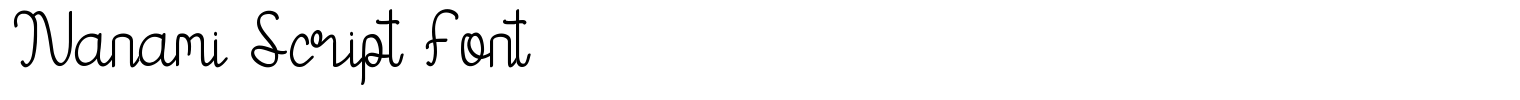 Nanami Script Font