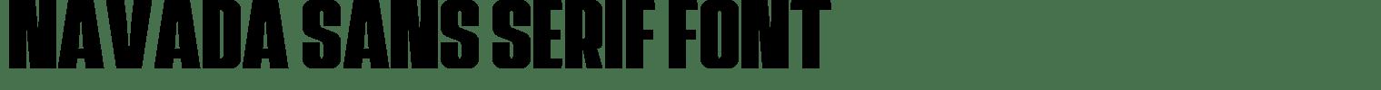 Navada Sans Serif Font