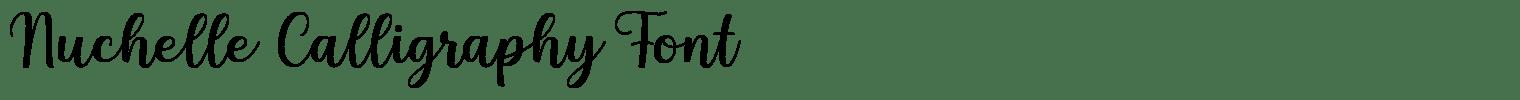 Nuchelle Calligraphy Font