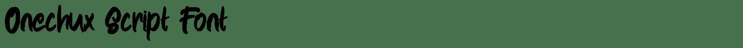 Onechux Script Font