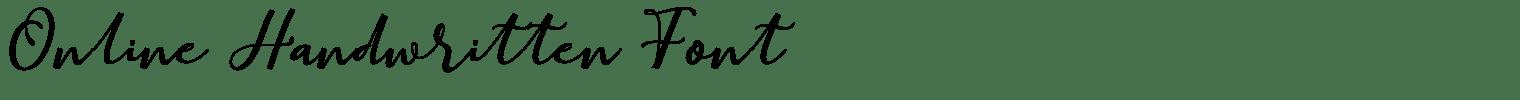 Online Handwritten Font