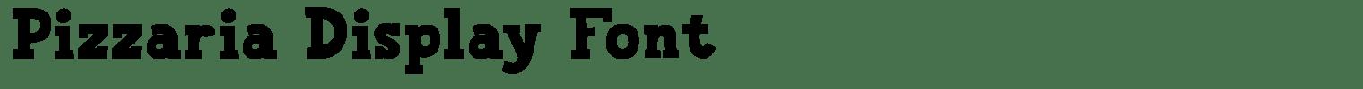 Pizzaria Display Font