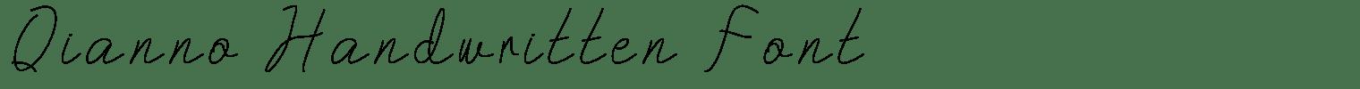 Qianno Handwritten Font