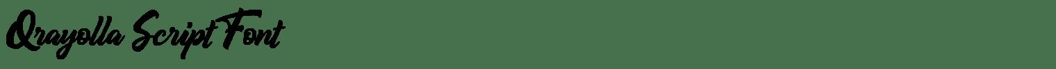 Qrayolla Script Font