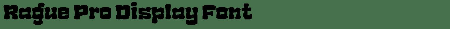 Rague Pro Display Font