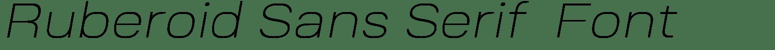 Ruberoid Sans Serif  Font