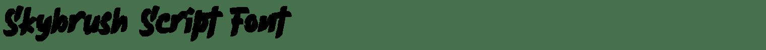 Skybrush Script Font