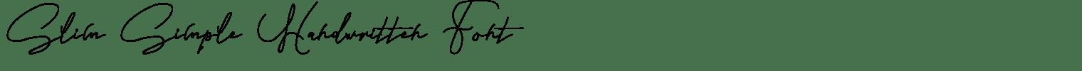 Slim Simple Handwritten Font