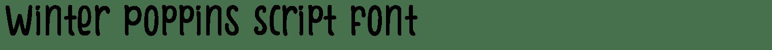 Winter Poppins Script Font