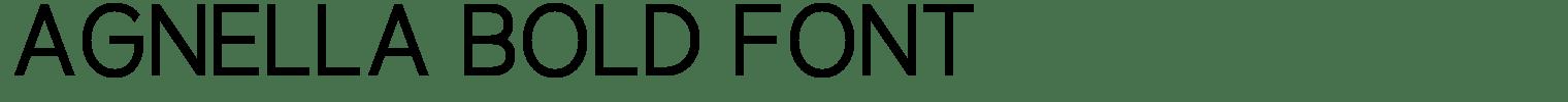 Agnella Bold Font