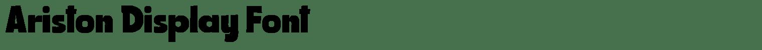 Ariston Display Font