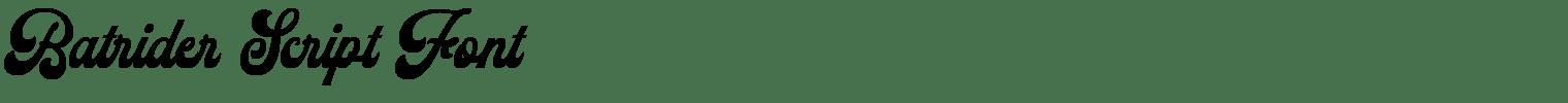 Batrider Script Font