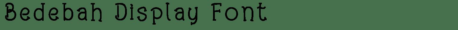 Bedebah Display Font