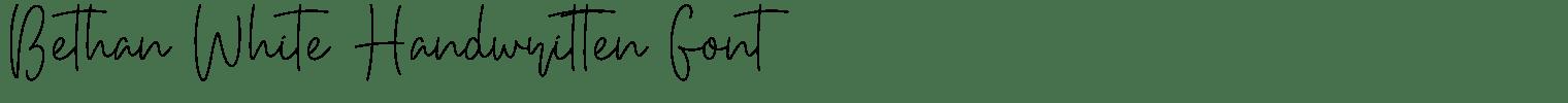Bethan White Handwritten Font