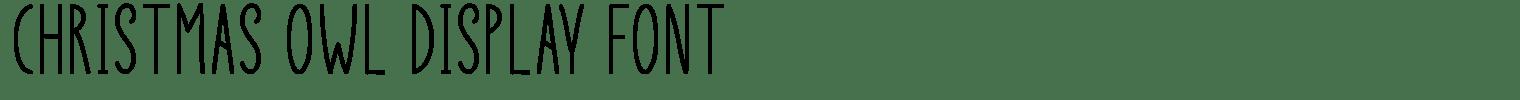 Christmas Owl Display Font