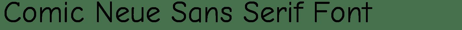 Comic Neue Sans Serif Font