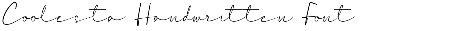 Coolesta Handwritten Font