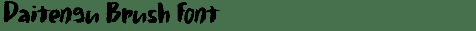 Daitengu Brush Font