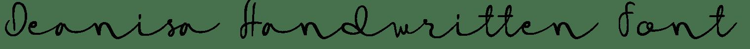 Deanisa Handwritten Font