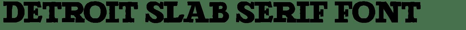 Detroit Slab Serif Font