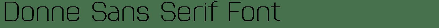 Donne Sans Serif Font