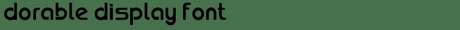 Dorable Display Font