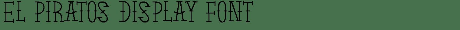 El Piratos Display Font