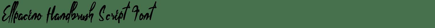 Ellpacino Handbrush Script Font