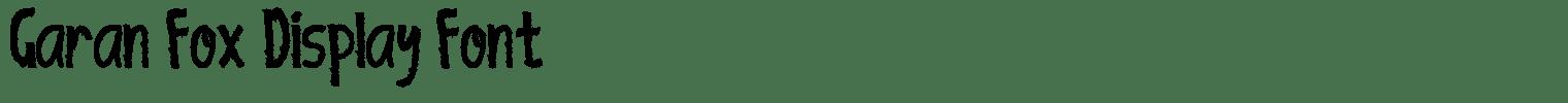 Garan Fox Display Font