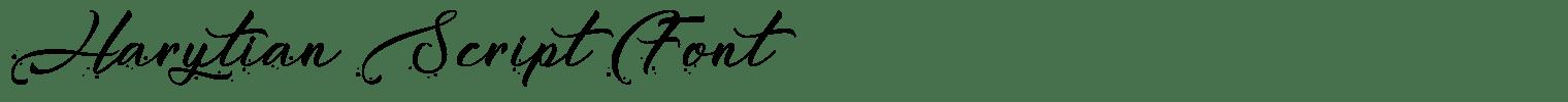 Harytian Script Font