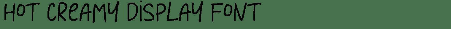 Hot Creamy Display Font