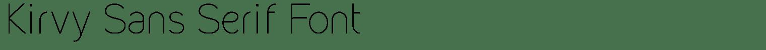 Kirvy Sans Serif Font