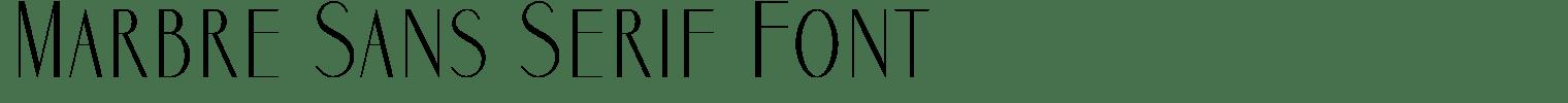 Marbre Sans Serif Font