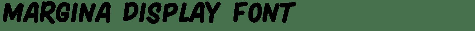 Margina Display Font