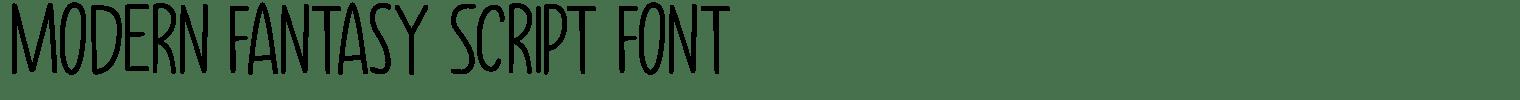 Modern Fantasy Script Font