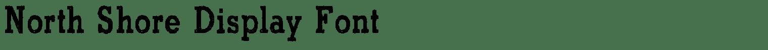 North Shore Display Font
